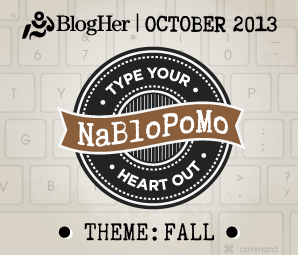 Official badge for NaBloPoMo October 2013.